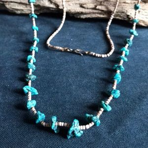 """30"""" Native American Turquoise Heishi Necklace"""